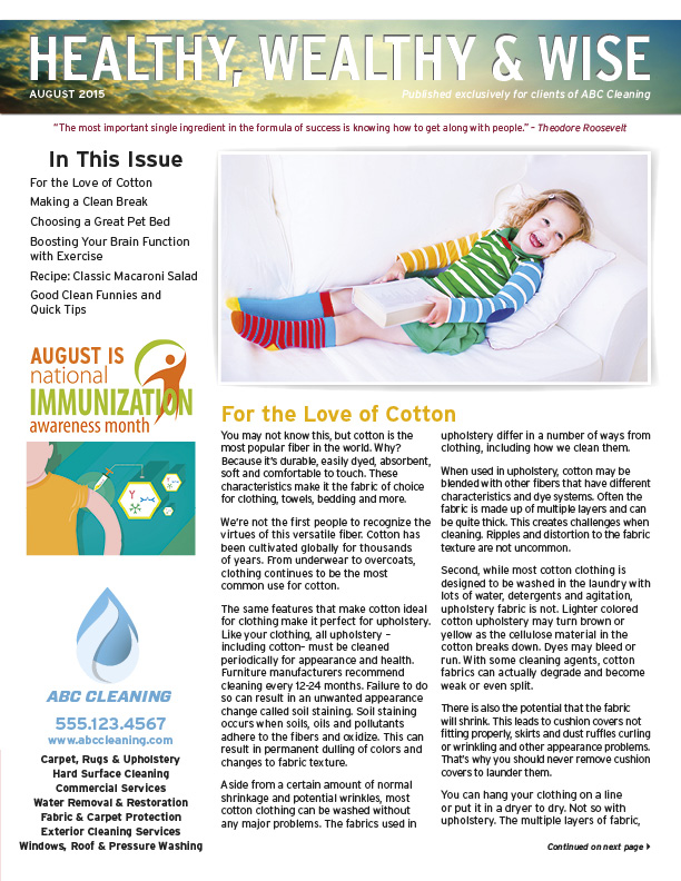 Cc Newsletters Newsletters And Postcards For Cleaning And